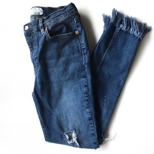 Free People Great Heights frayed hem denim Size 27